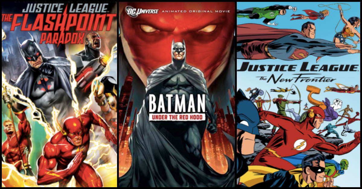 all justice league animated movies
