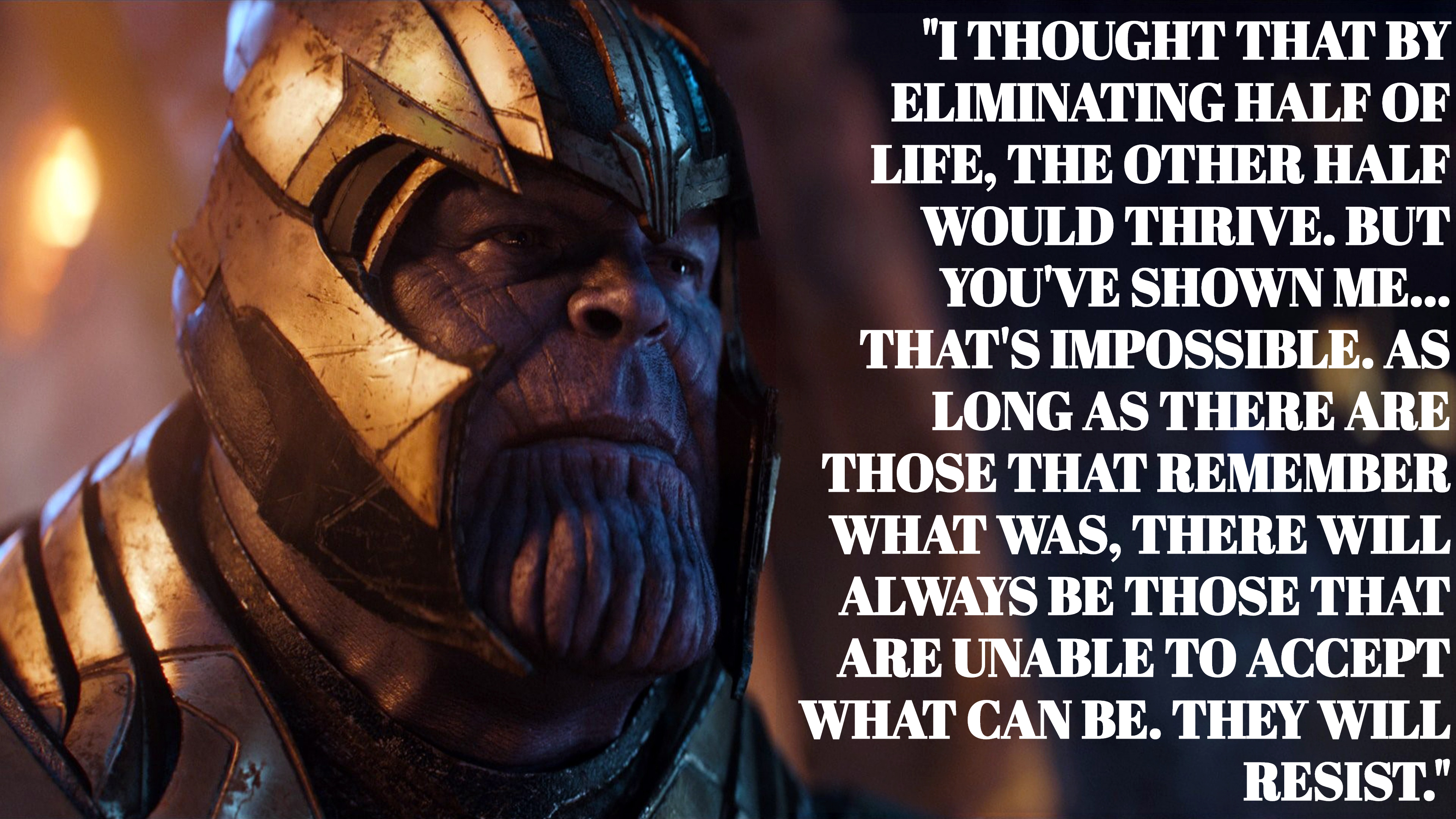 Thanos sayings