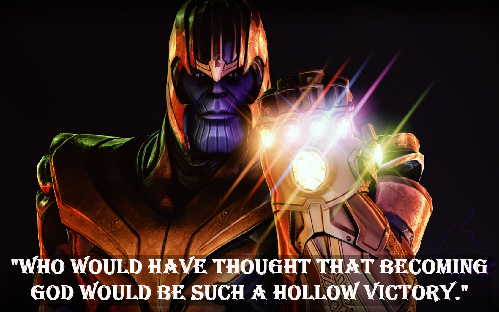 Thanos movie quotes.