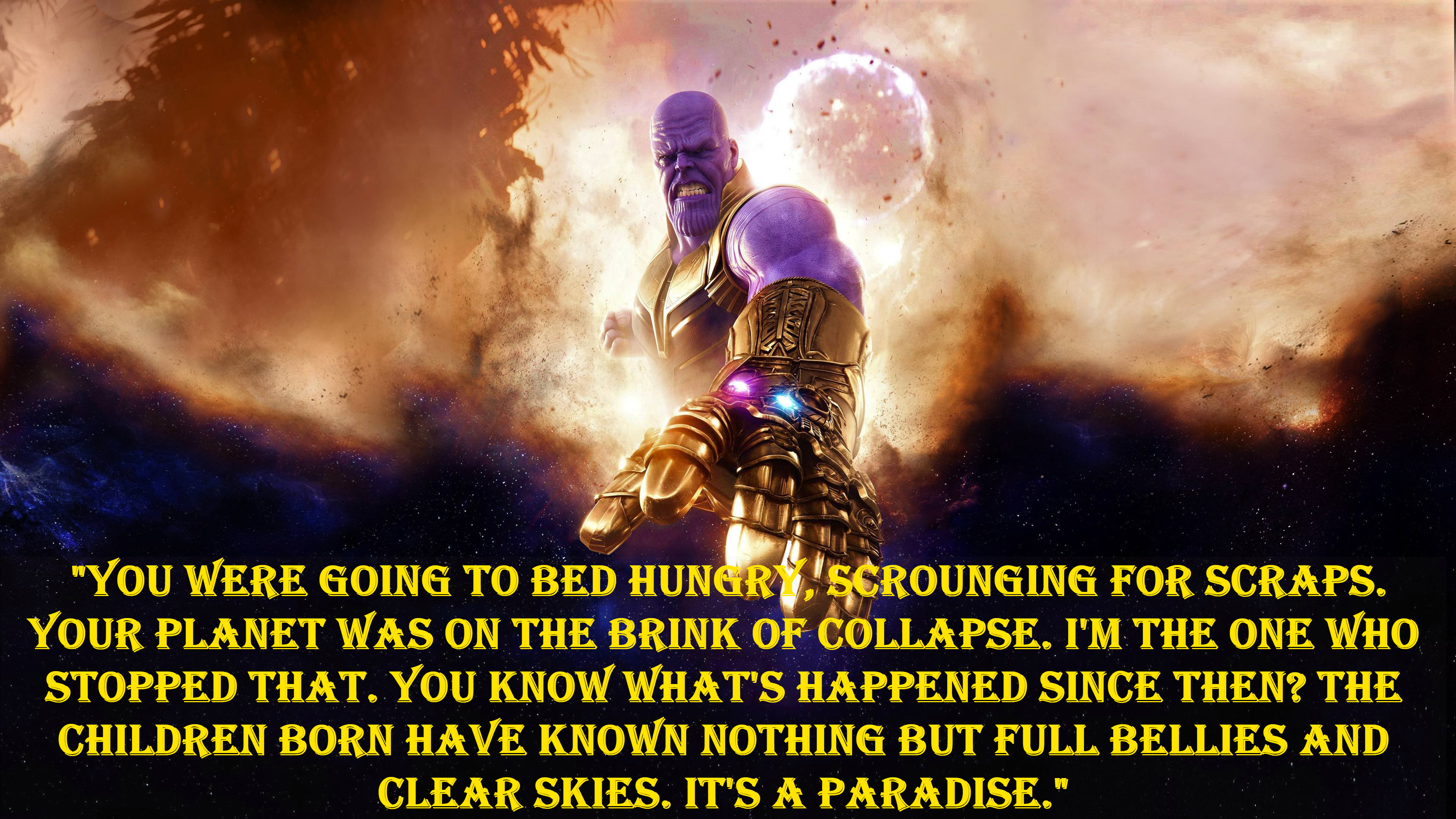 Thanos best quotes