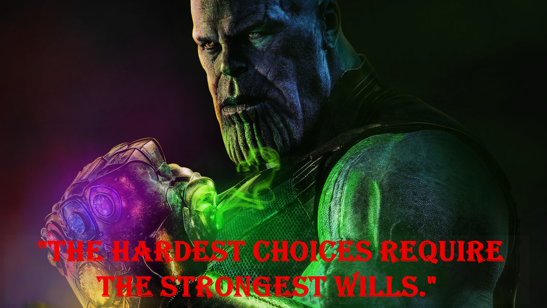 Thanos sayings.