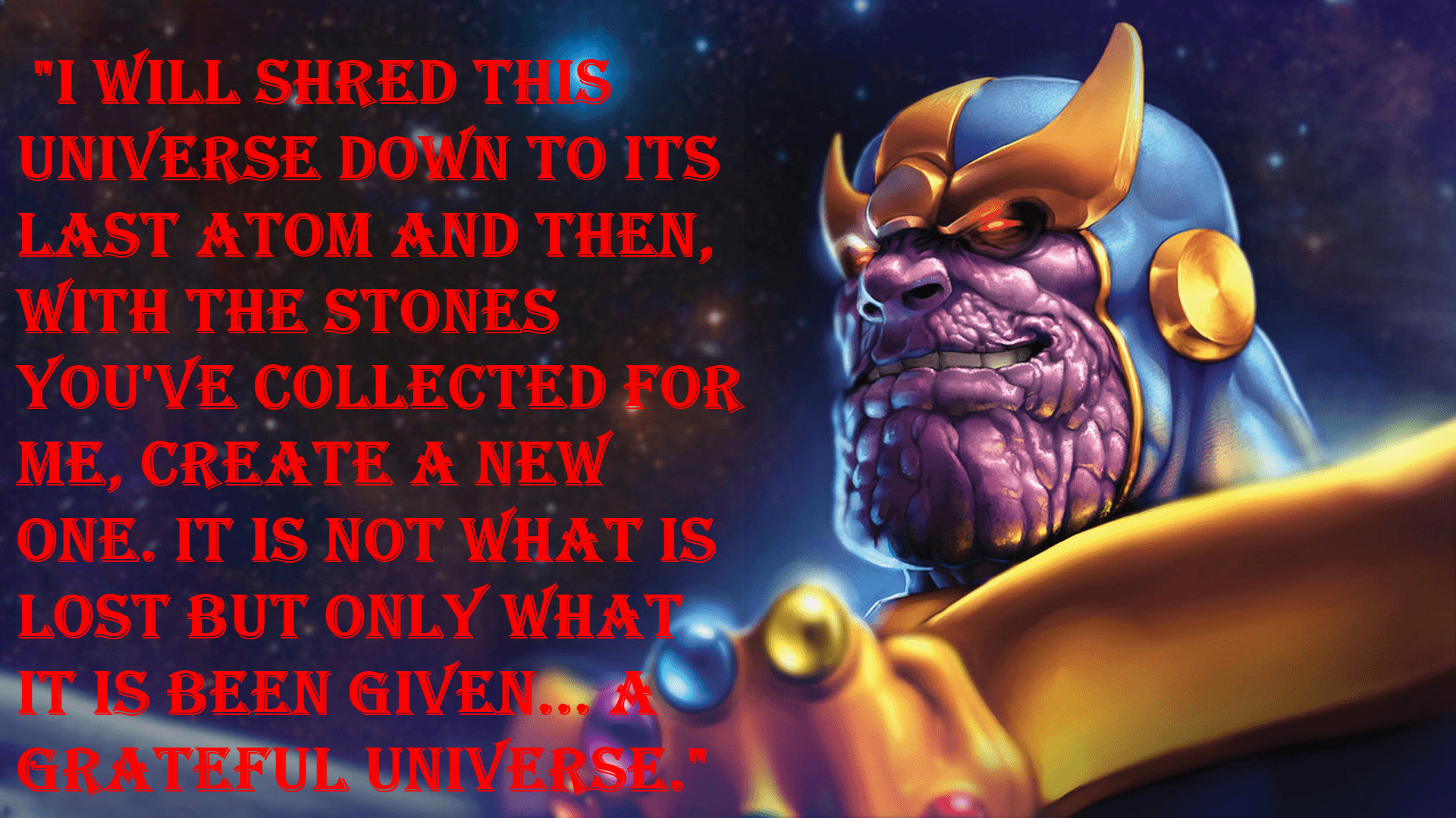 Thanos comicbook quotes