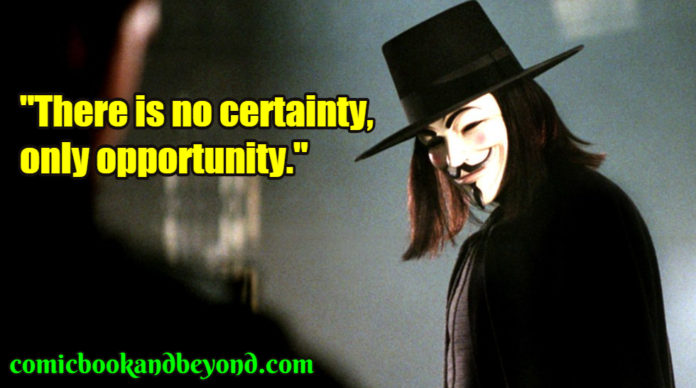V for Vendetta famous quotes