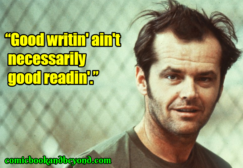 One Flew Over the Cuckoo's Nest saying