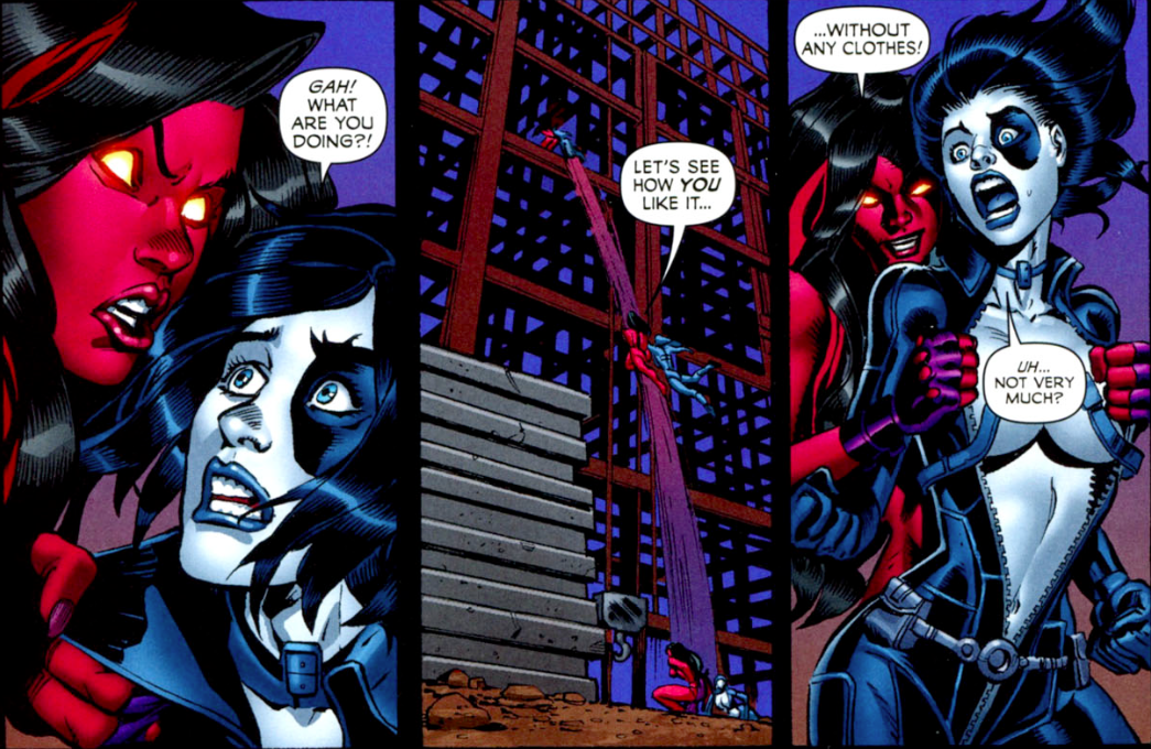 Domino Undressed By Red She Hulk
