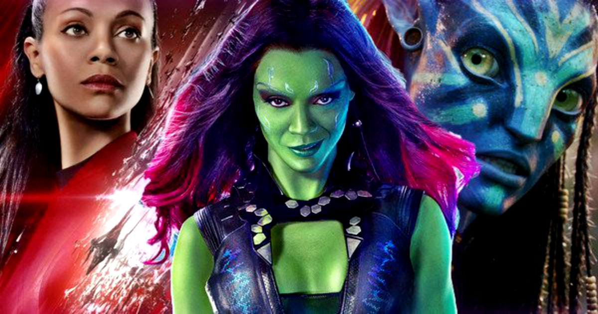 Zoe Saldana Gamora From Guardians Of The Galaxy Now Has