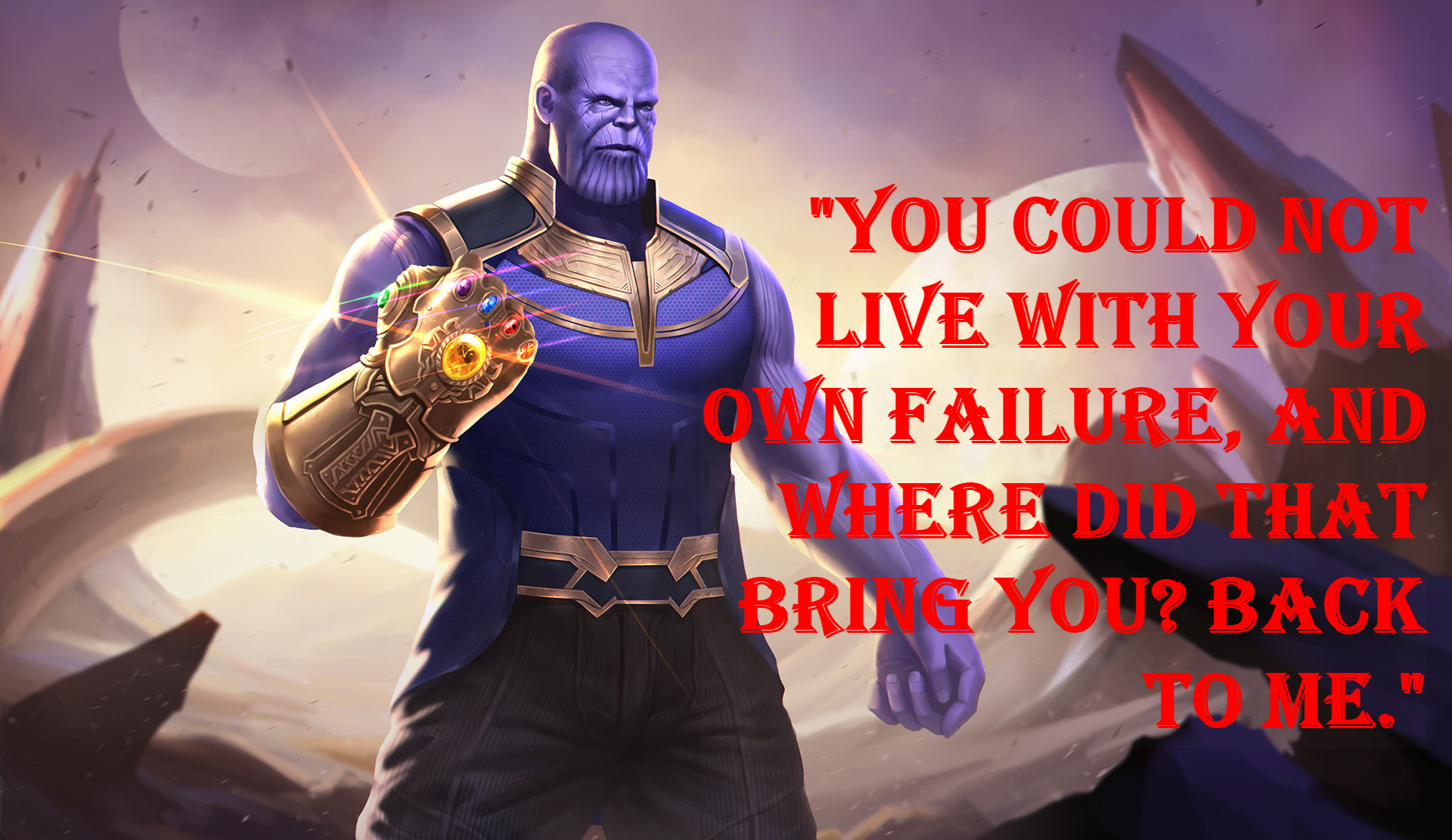 Thanos comic-book quotes