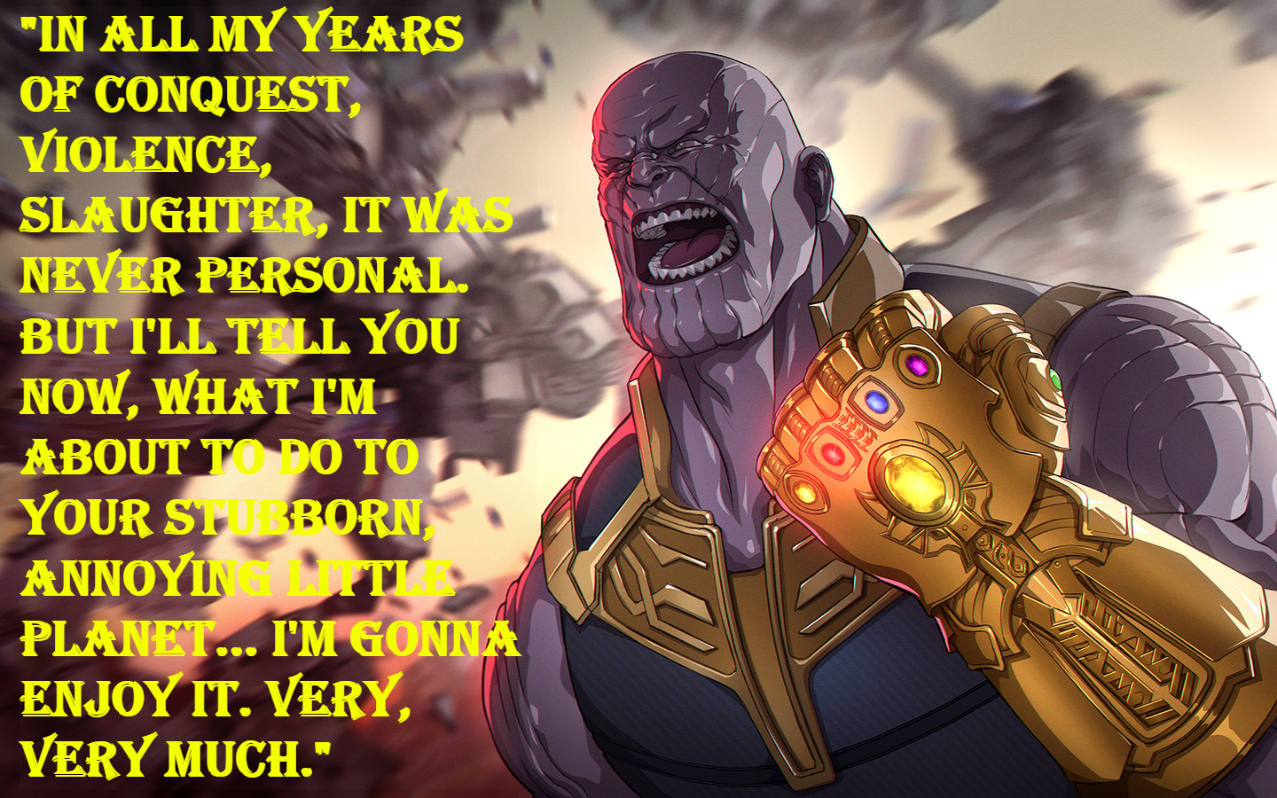 Thanos End game quotes.
