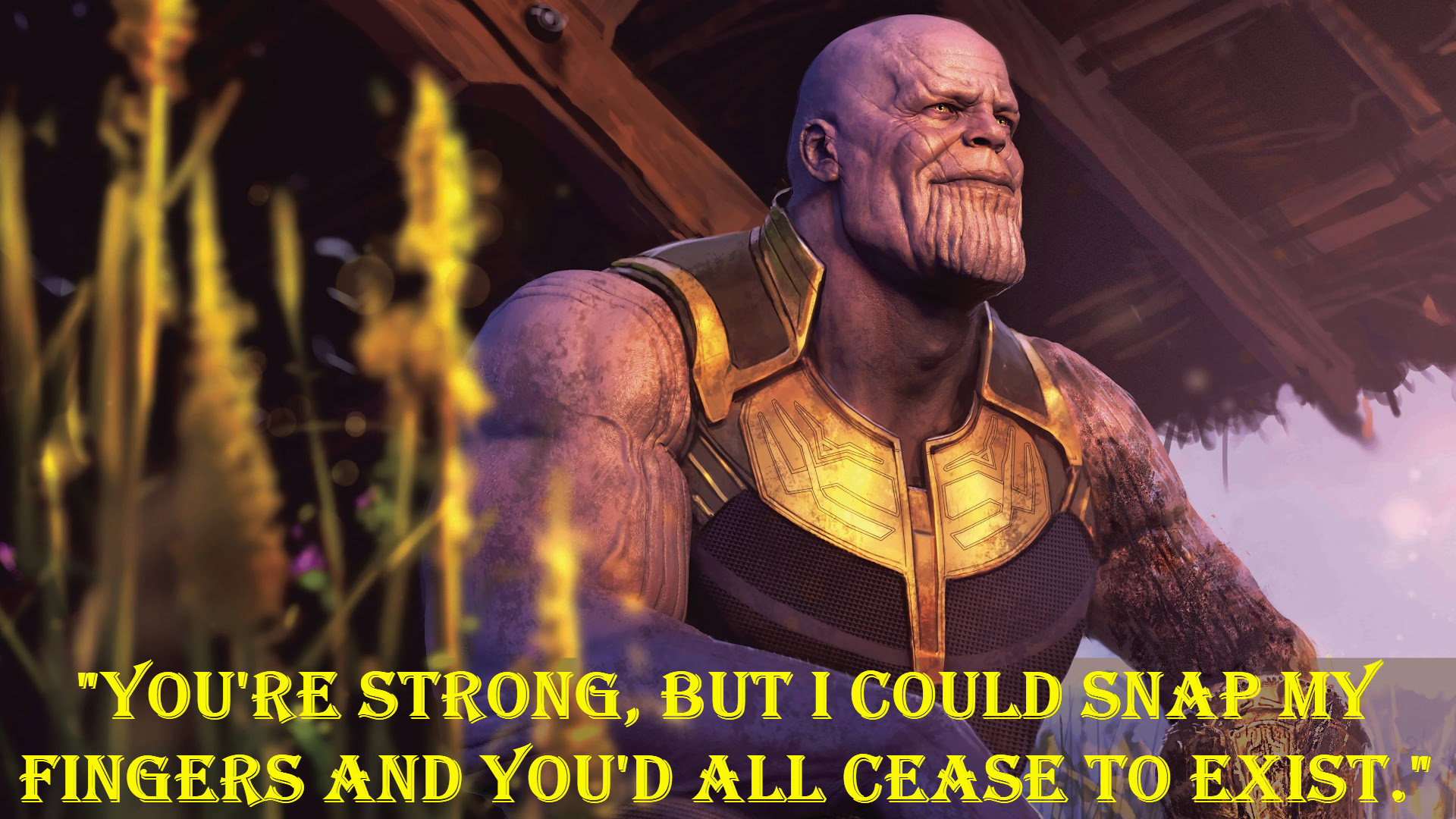 Thanos avengers quotes.