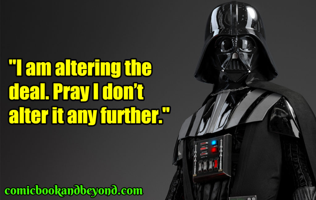 Darth Vader best quotes