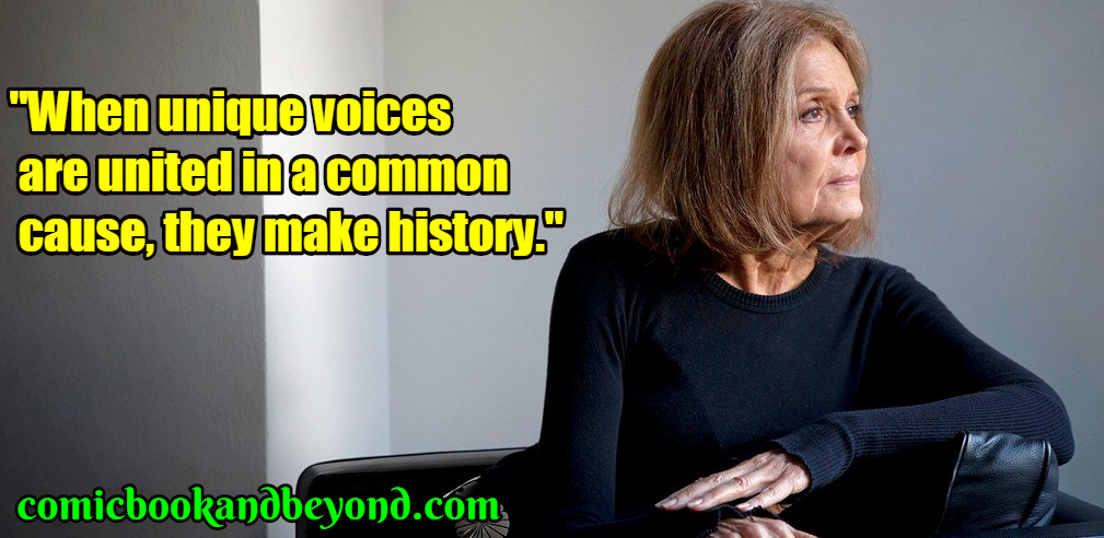 Gloria Steinem saying