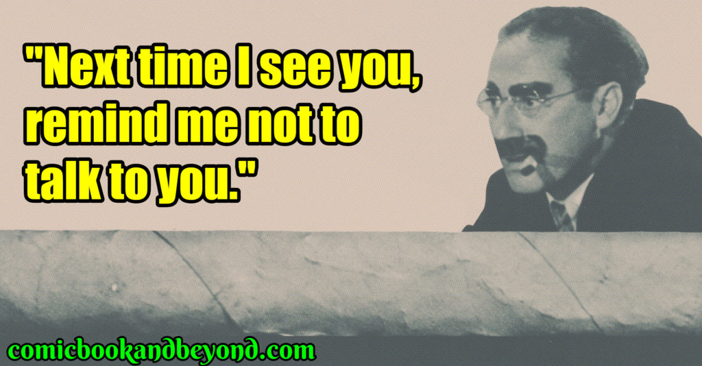 Groucho Marx famous quotes