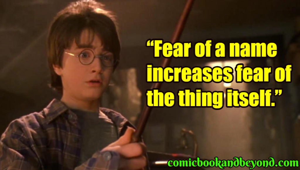Harry Potter and the Philosopher's Stone saying
