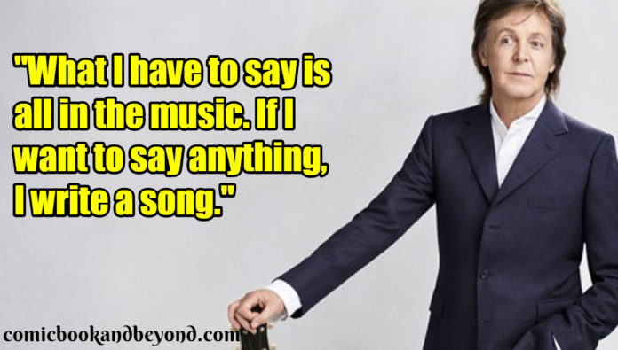 Paul McCartney Famous Quotes