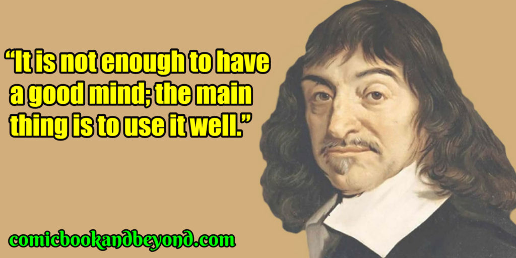Rene Descartes popular quotes