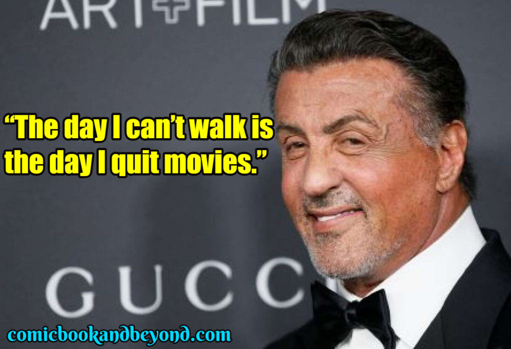 Sylvester Stallone famous quotes