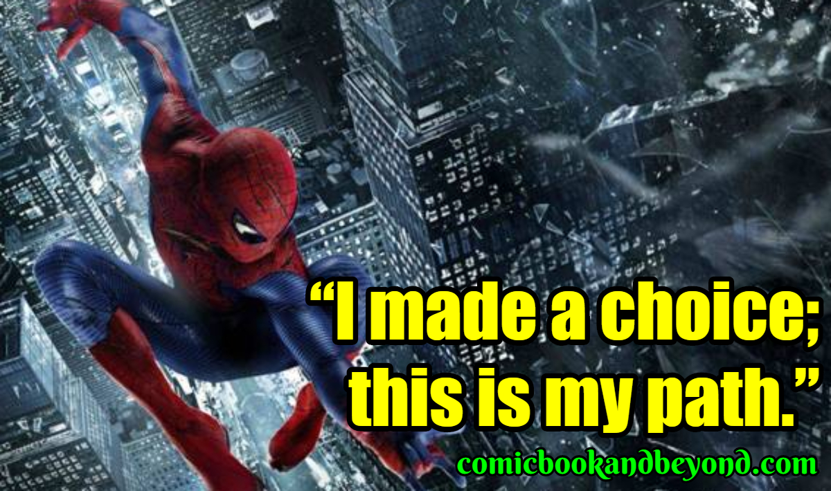 The Amazing Spider-Man Sayings