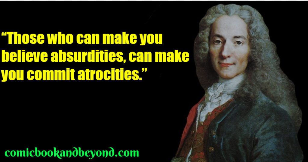 Voltaire saying