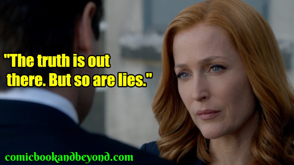 Dana Scully saying