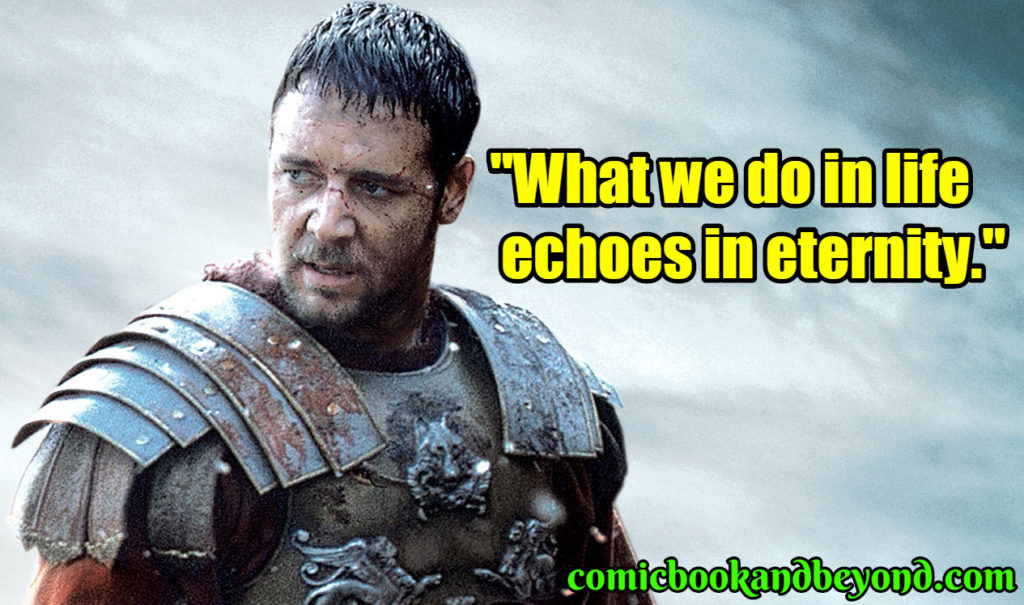 100+ Gladiator Quotes About The Roman Historical Epic Movie