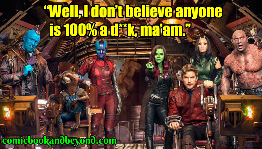 Guardians of the Galaxy famous quotes
