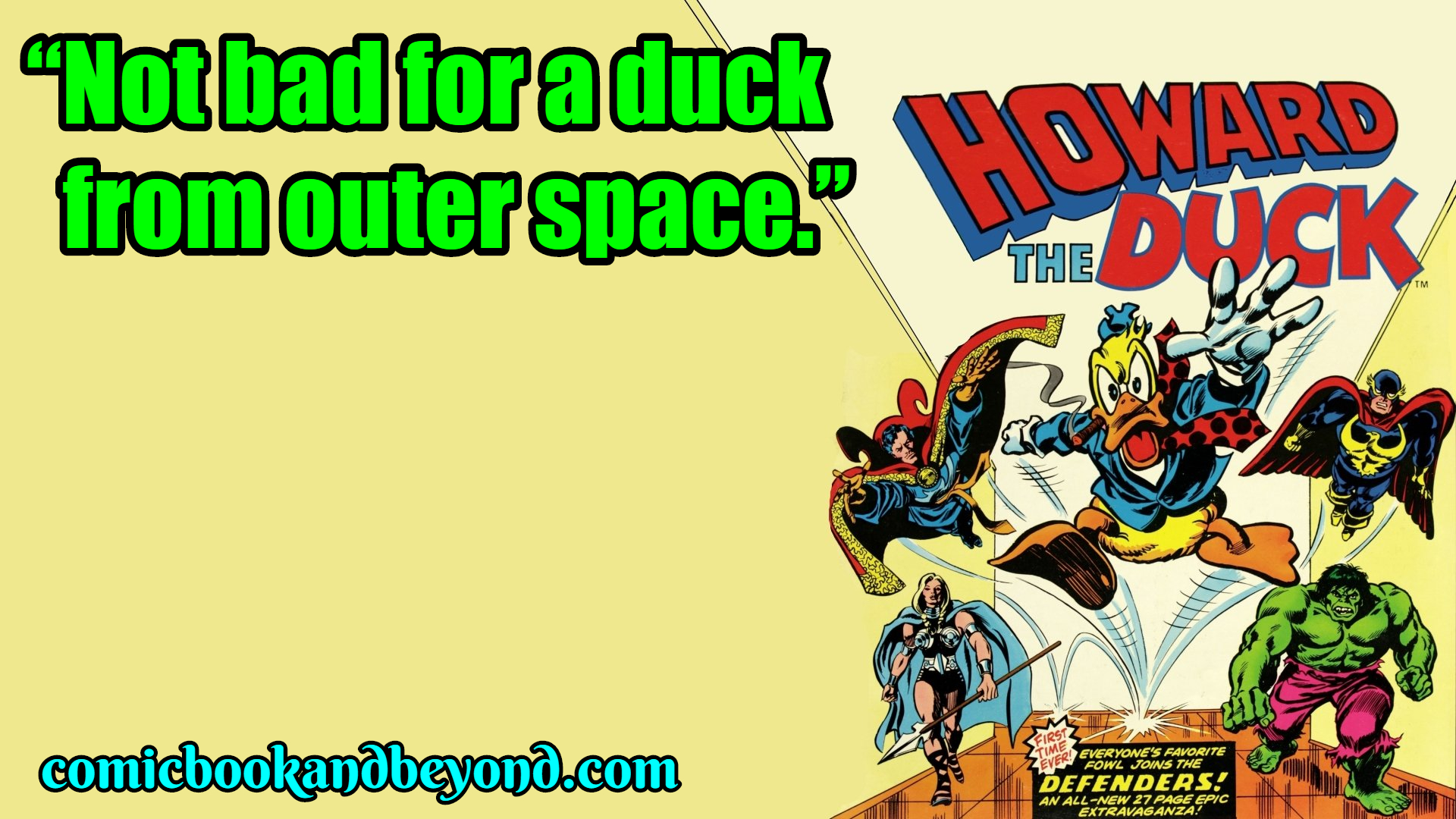 Howard the Duck saying