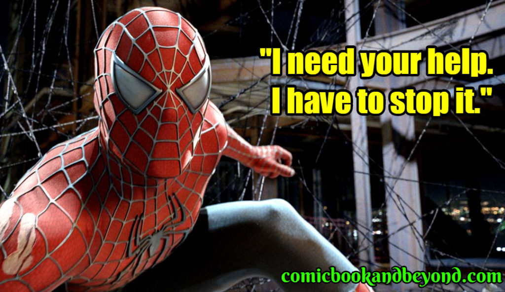 Spider-Man 3 saying