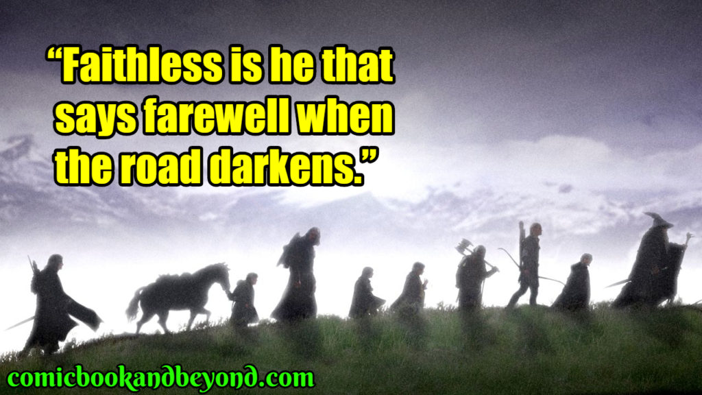 The Lord of the Rings The Fellowship of the Ring quotes