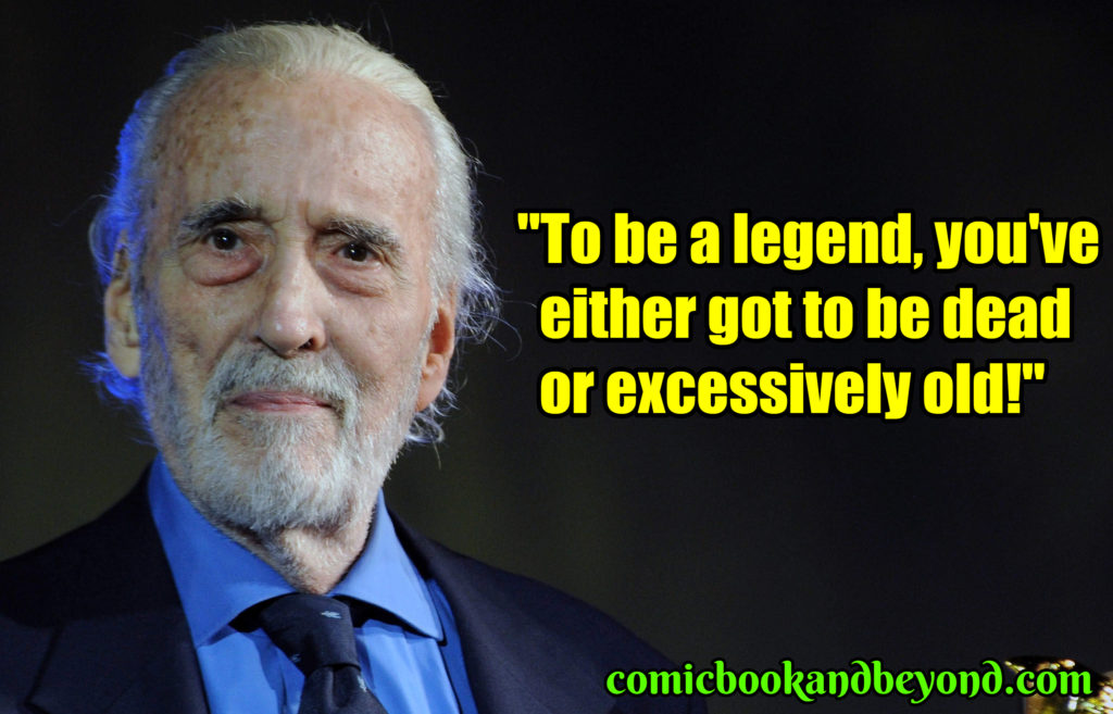 Christopher Lee famous quotes
