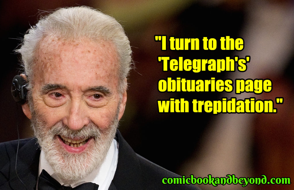 Christopher Lee popular quotes