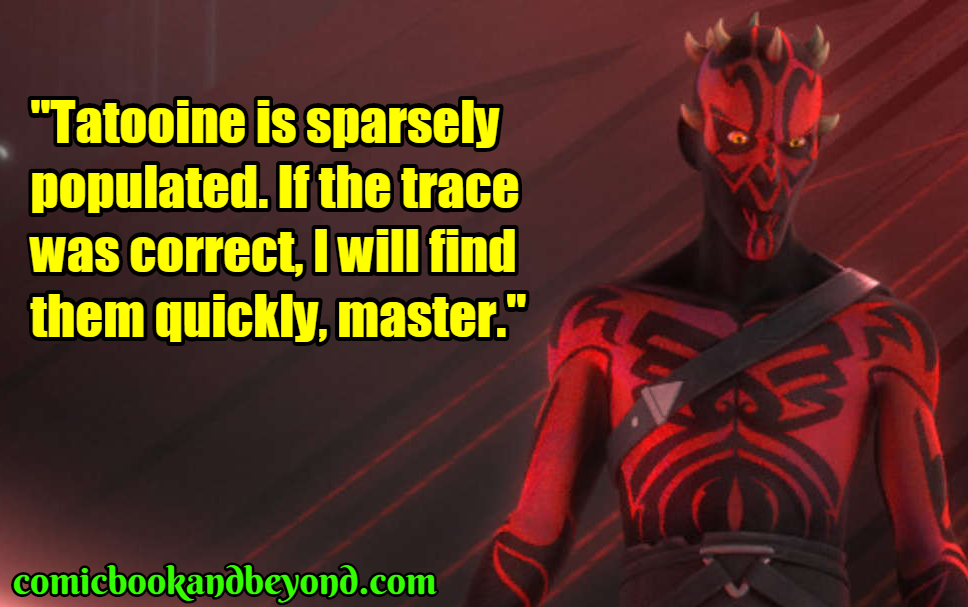 Darth Maul best quotes