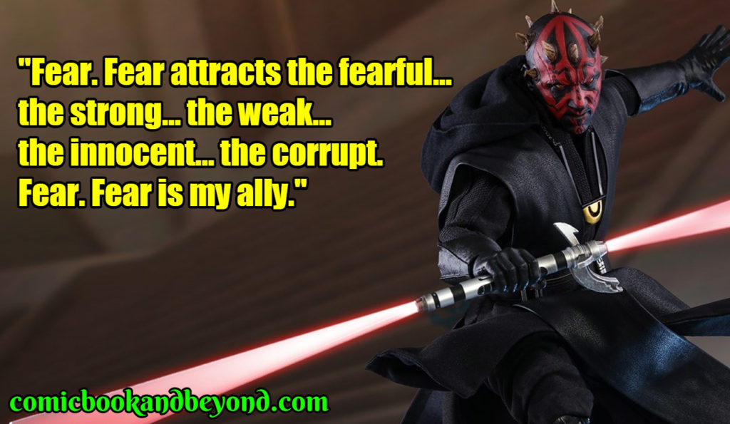 Darth Maul famous quotes