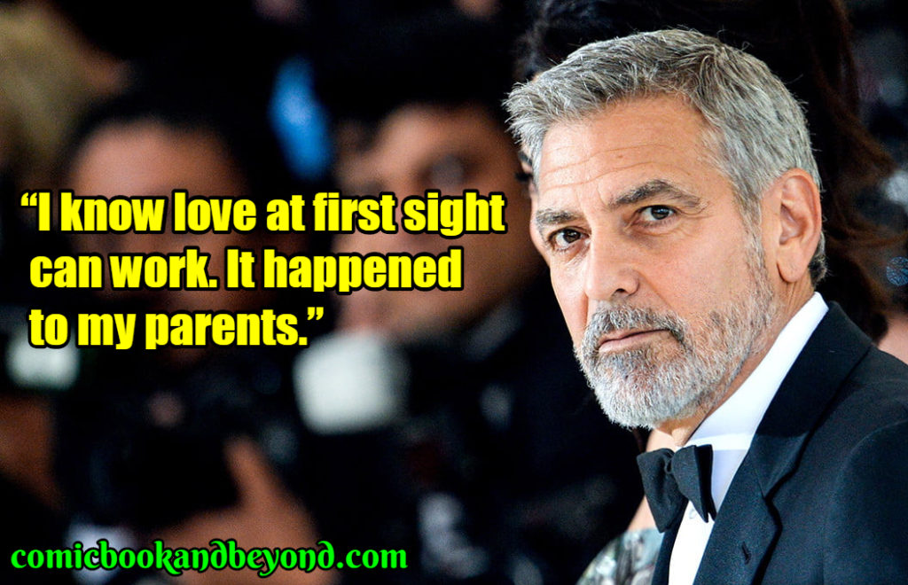 George Clooney saying