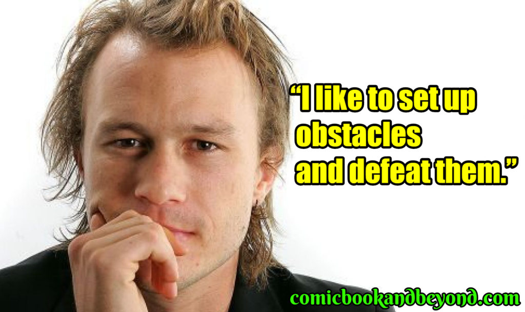 Heath Ledger famous quotes