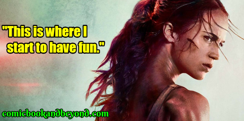 Lara Croft famous quotes