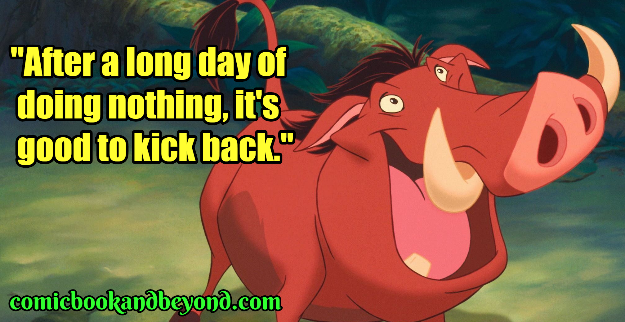 100+ Pumbaa Quotes From The Lion King Movie - Comic Books ...