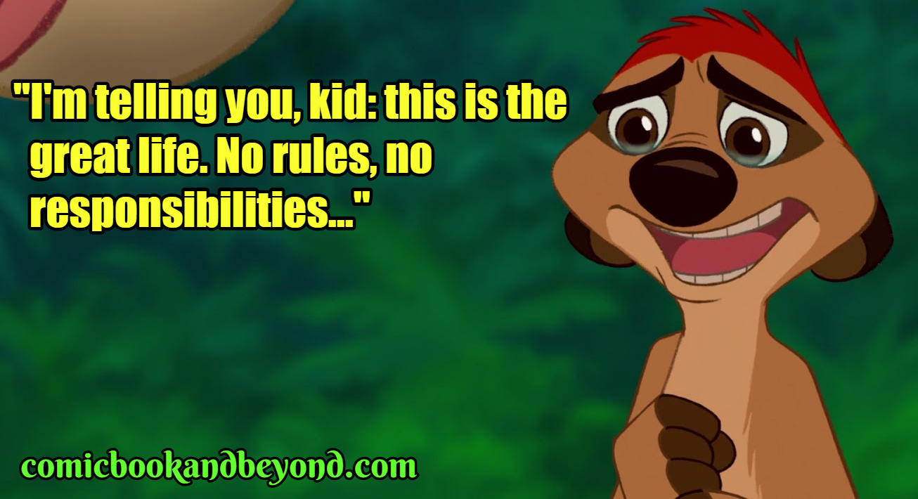 90+ Timon Quotes From The Lion King Movie - Comic Books & Beyond