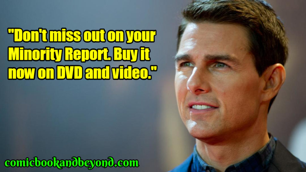 Tom Cruise saying