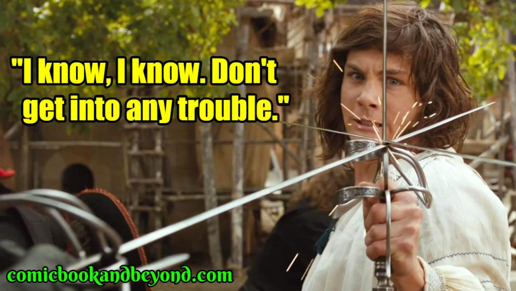 D'Artagnan saying