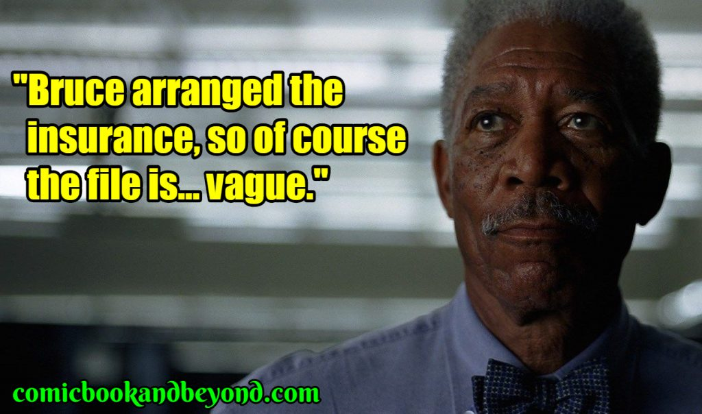 Lucius Fox quotes